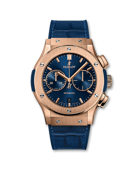 Classic Fusion Blue Chronograph King Gold
