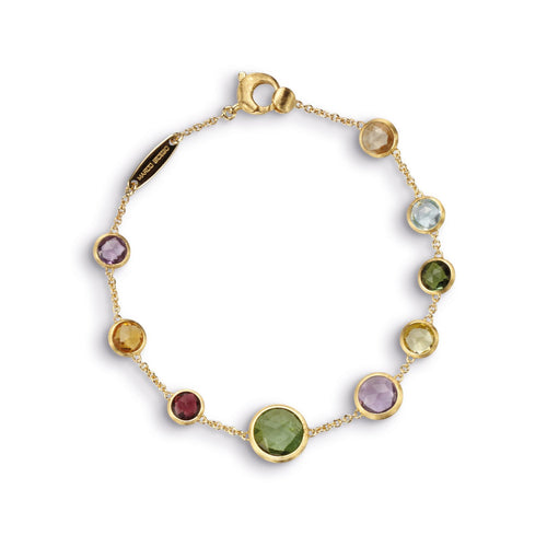 18K Gold Multicolored Stone Bracelet