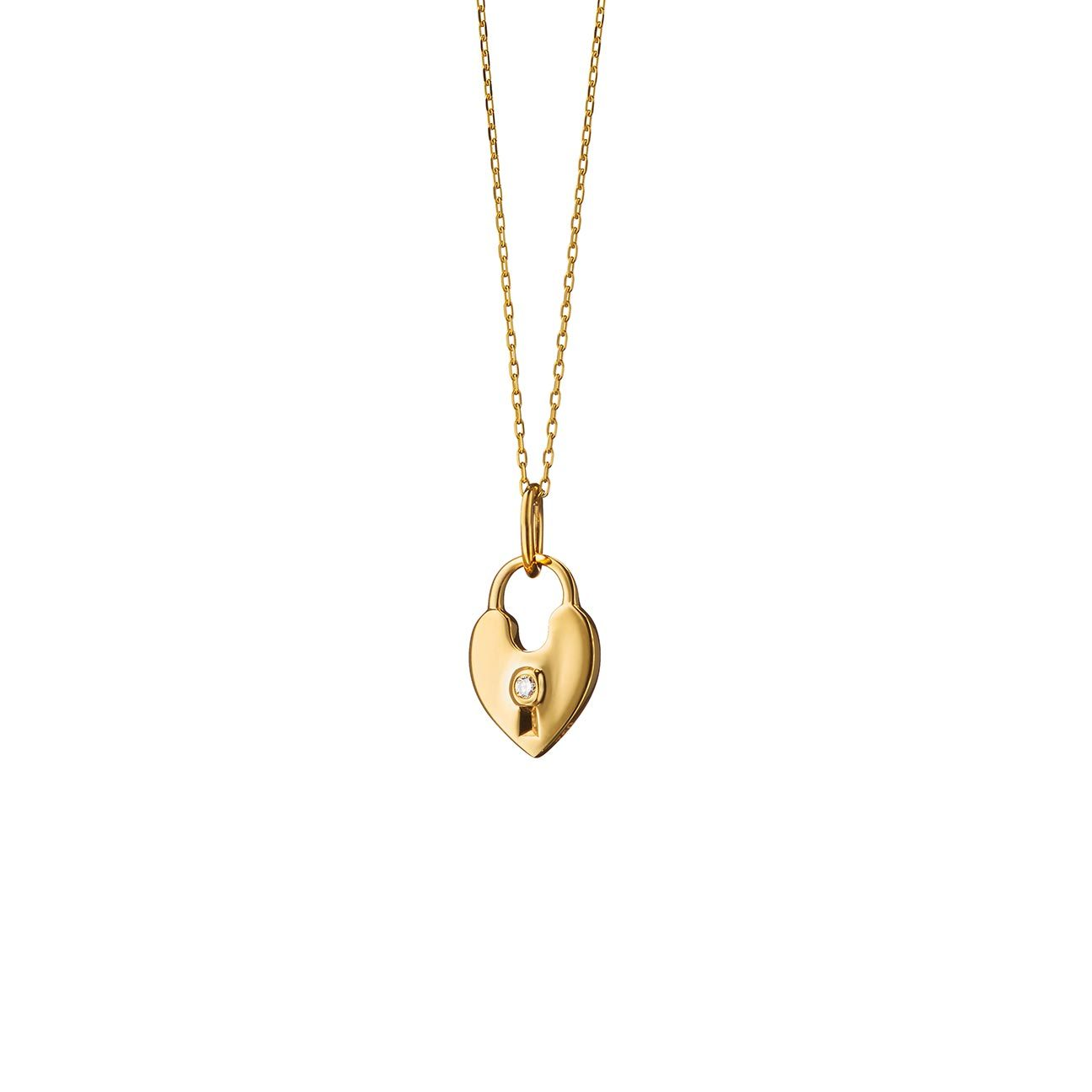 Heart Shaped Lock Charm Necklace