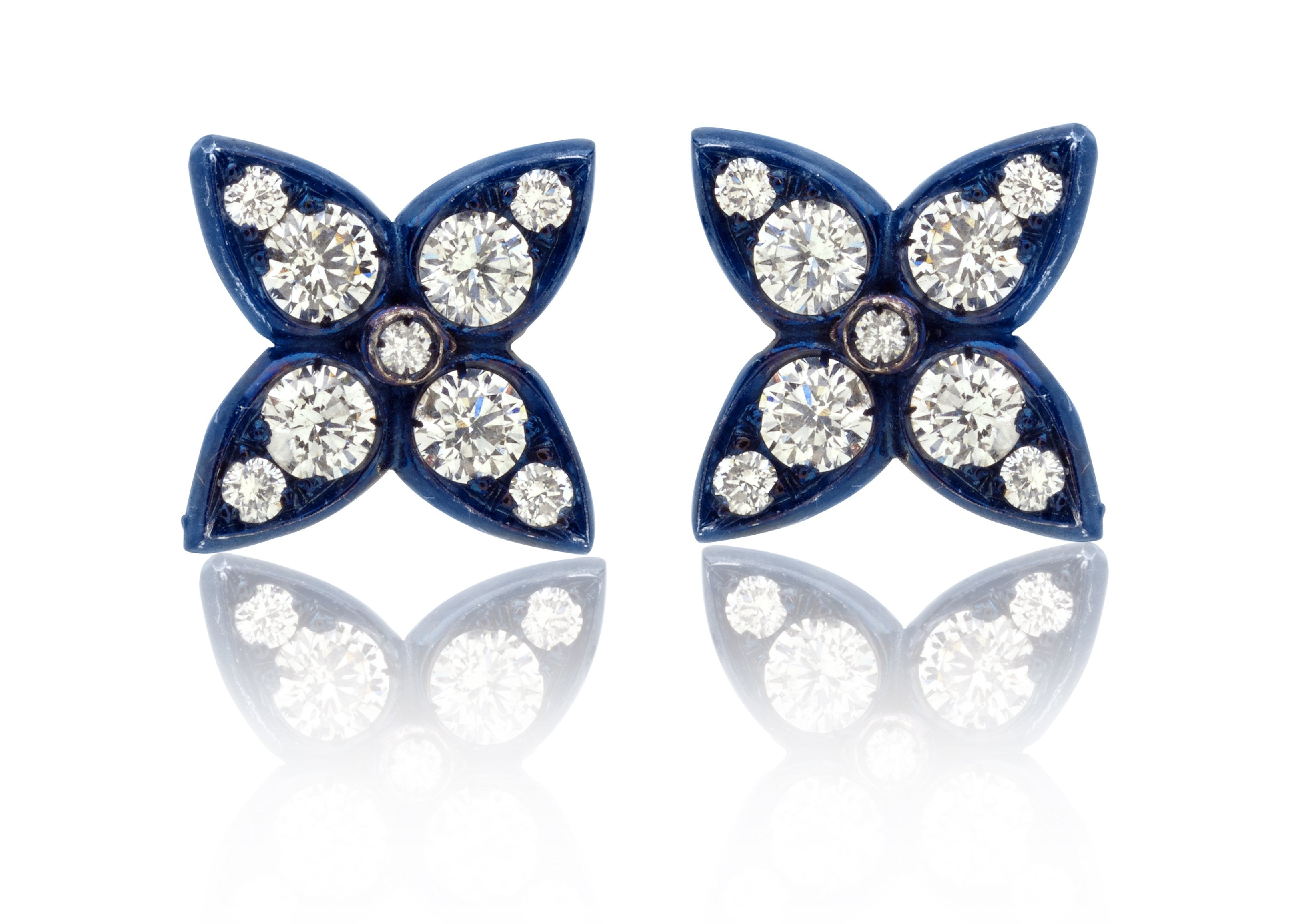 Lucilla Earrings with Diamonds