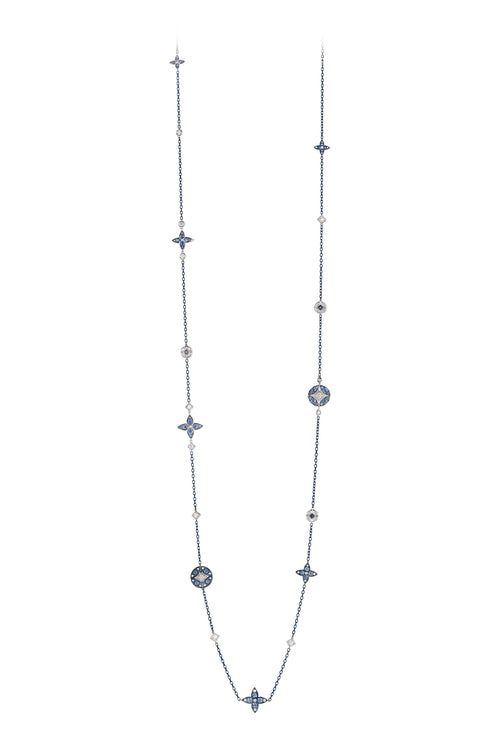 Lucilla Necklace with Sapphires and Diamonds