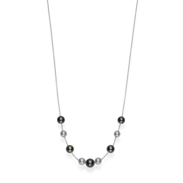 South Sea Adjustable Pearl Station Necklace 7.5-10mm A+
