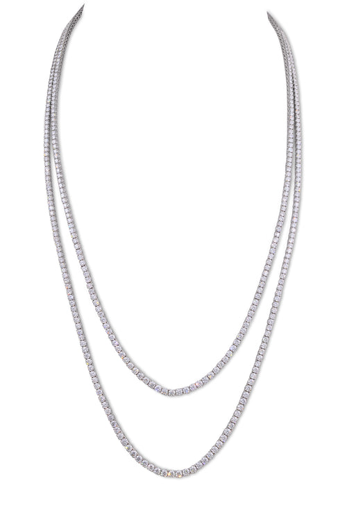 White Gold Diamond Riviera Necklace