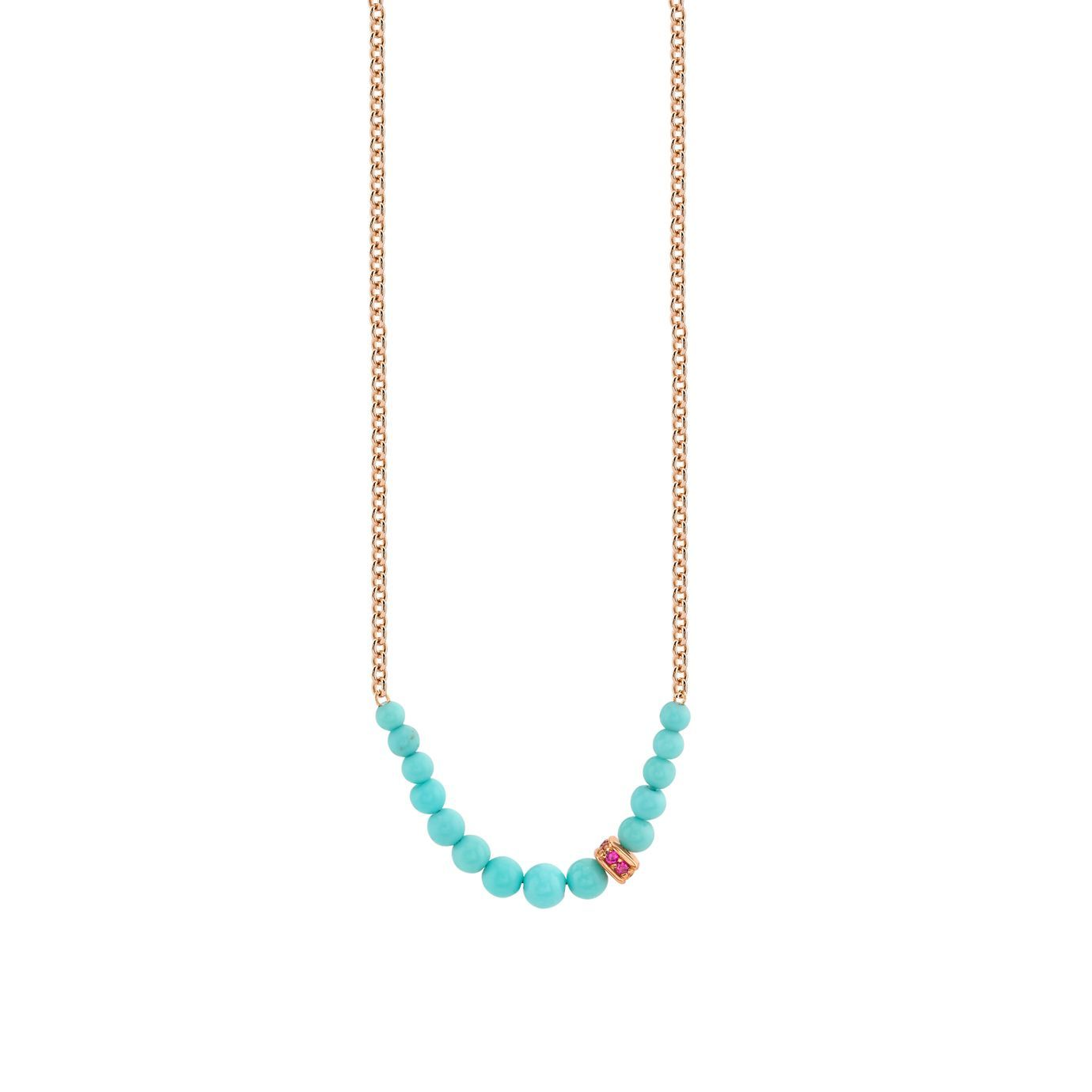 Ruby Graduated Turquoise Necklace