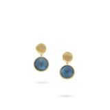 Jaipur 18K Yellow Gold London Blue Topaz Drop Earrings