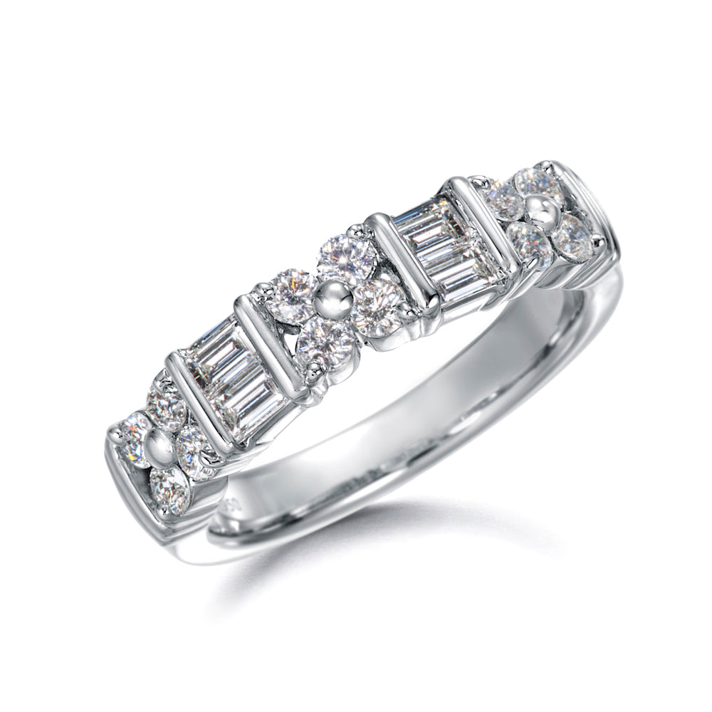 Diamond Channel Platinum Band