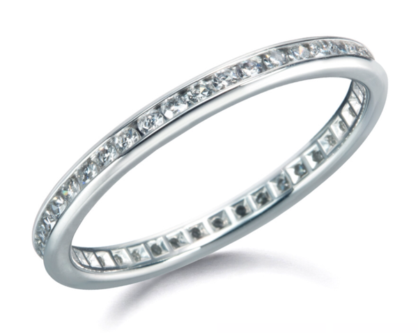 Diamond Channel Eternity Band