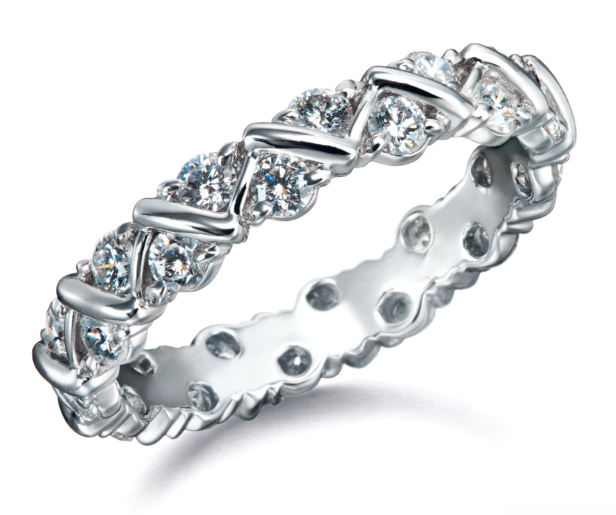 Diamond Zigzag Eternity Band