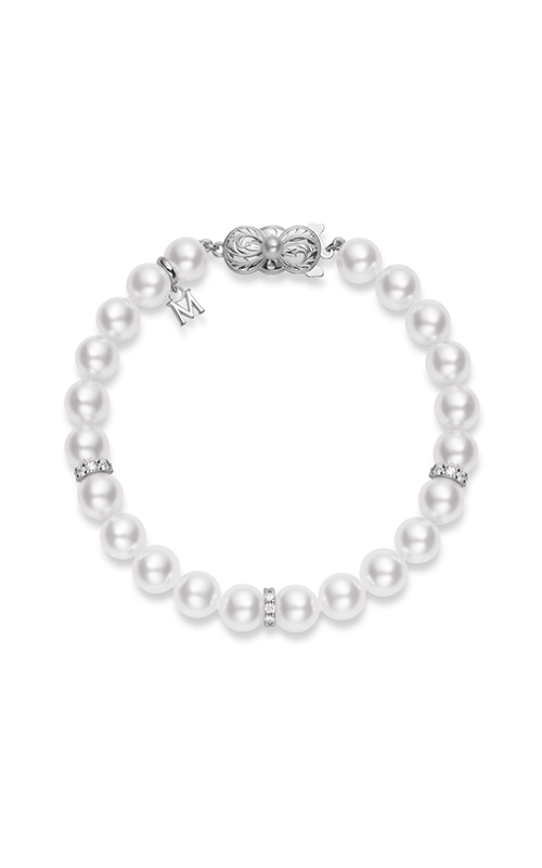 Akoya Cultured Pearl Bracelet 7-7.5mm A1 with Diamonds