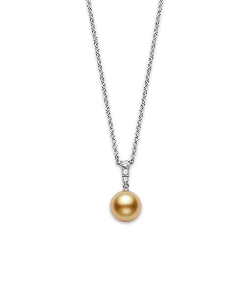 Morning Dew Golden South Sea Cultured Pearl Pendant 11mm