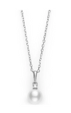Akoya Cultured Pearl and Diamond Pendant 6-6.5mm