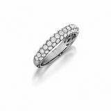 Diamond Pavé Wedding Band 14K White Gold