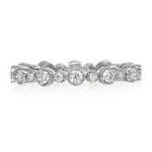 Milgrain Platinum Diamond Band