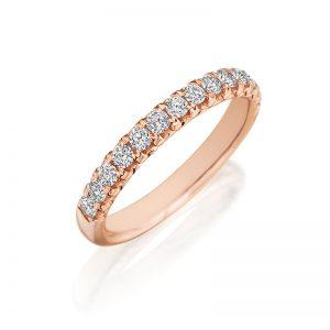 Diamond Wedding Band 18K Rose Gold