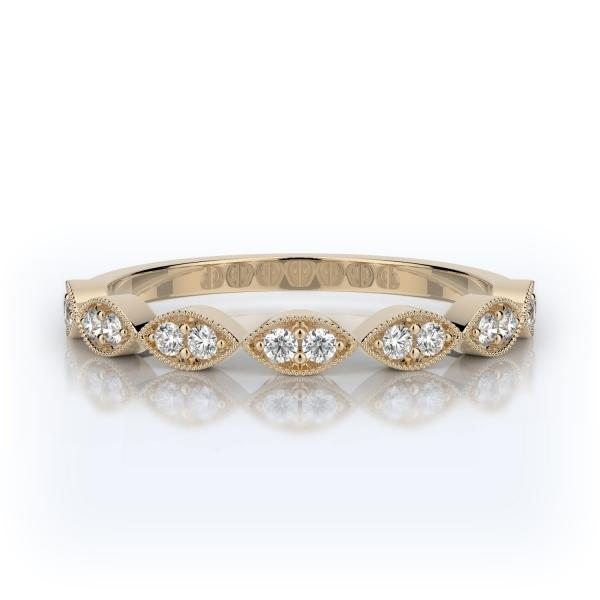 Pavé Diamond Wedding Band 14K Yellow Gold