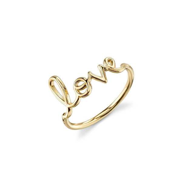 "Pure Gold ""Love"" Script Ring"