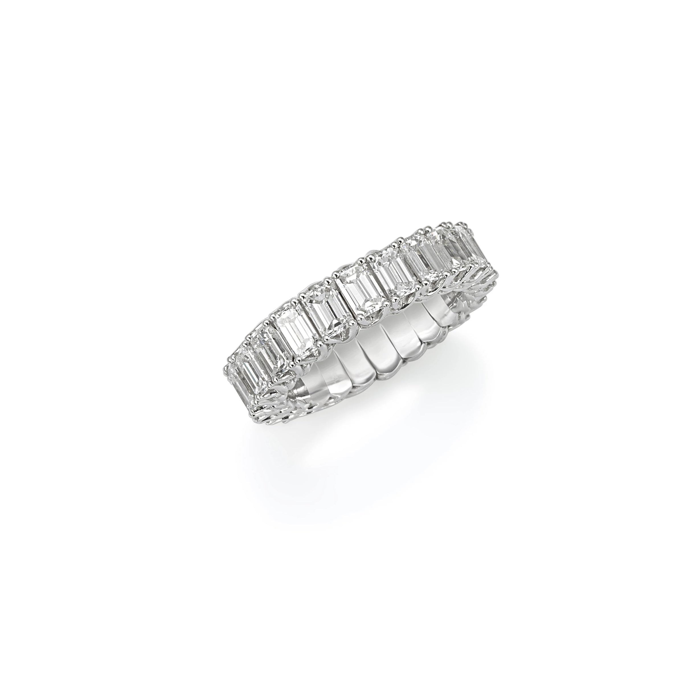 White Gold Xpandable™ Single Row Diamond Ring