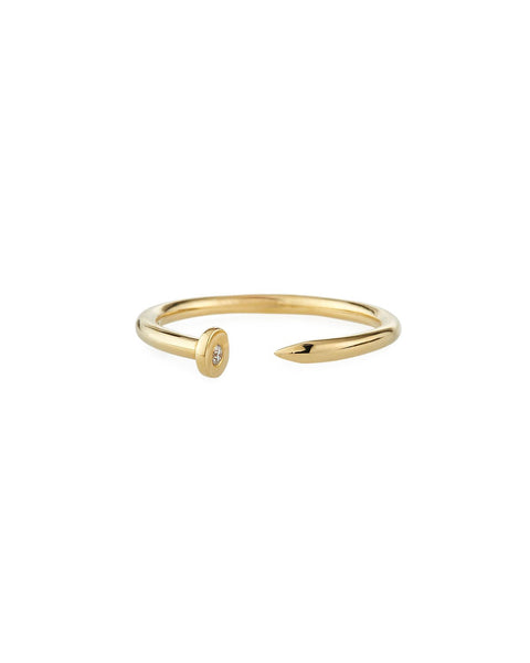 Gold & Diamond Nail Ring