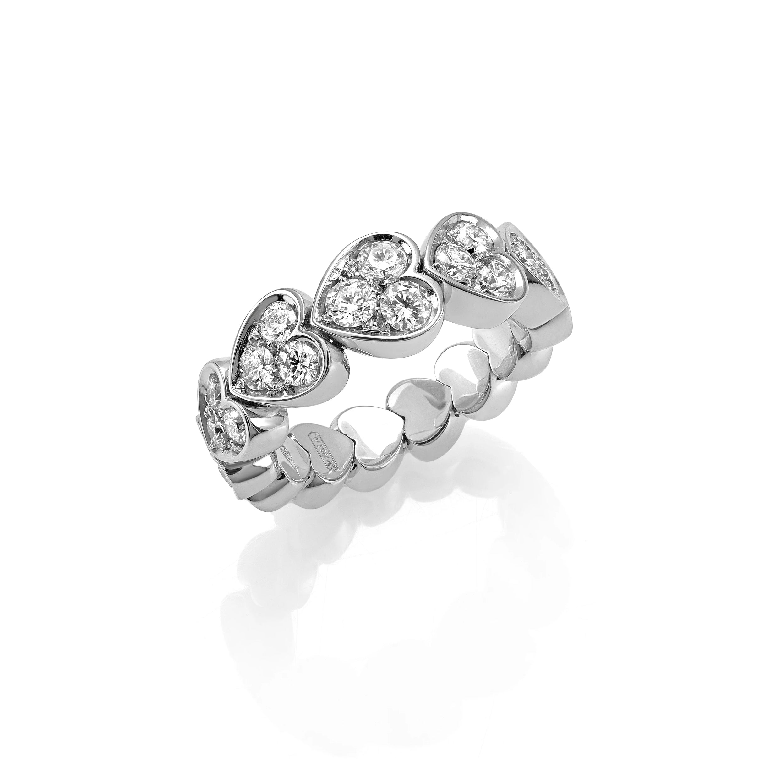 White Gold Xpandable™ Diamond Heart Ring