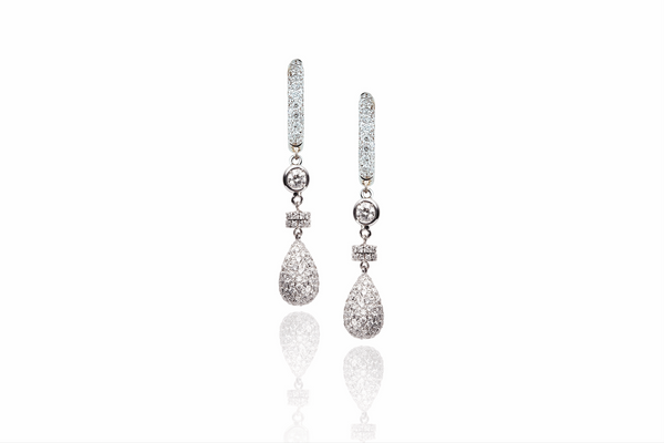 Gocce Earrings with Diamonds