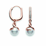 Akoya Pearl Twist Earrings 18K Rose Gold