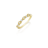 Diamond Wedding Band 14K Yellow Gold