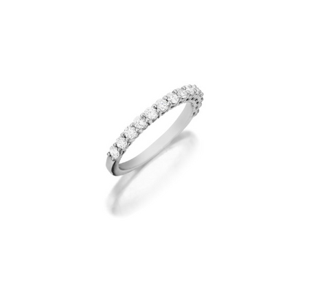 Halo Diamond Wedding Band 18K White Gold