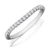 Round Shape Pavé Diamond Wedding Band 14K White Gold