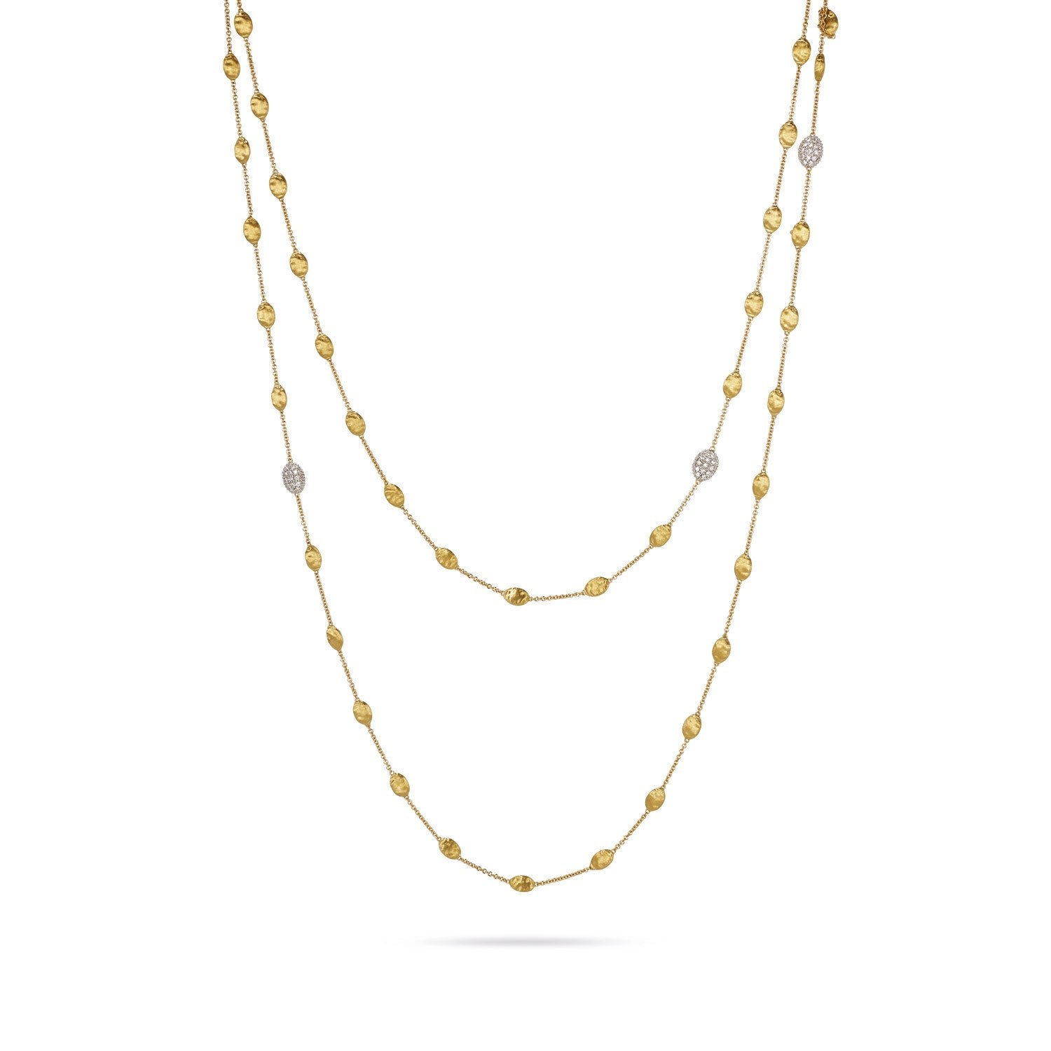 18K Gold & Diamond Long Necklace
