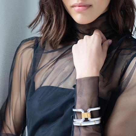 Two-Tone Statement Cuff and Chevron Cuff