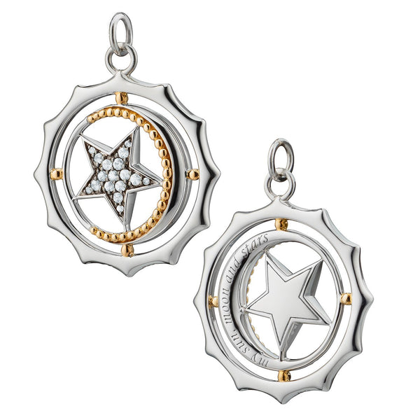 Two-Tone My Sun, Moon and Stars Charm