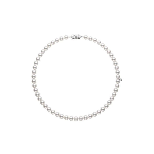 Akoya Pearl Choker Strand Necklace 6-6.5mm
