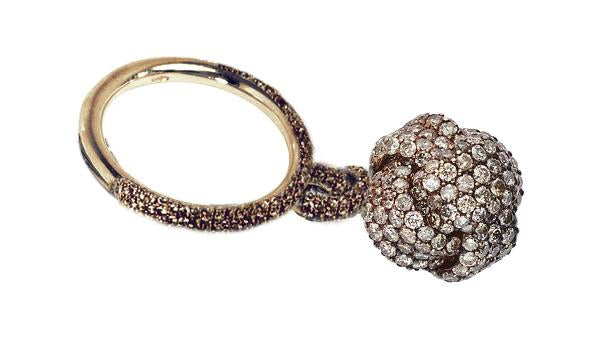 Nodi Ring with Diamonds