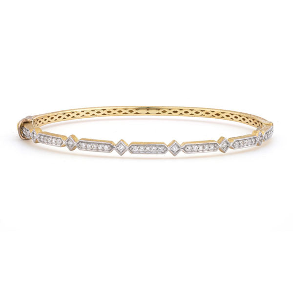 Lisse Alternating Elongated Kite Diamond Bangle