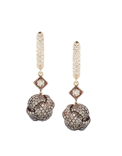 Nodi Earrings with Diamonds