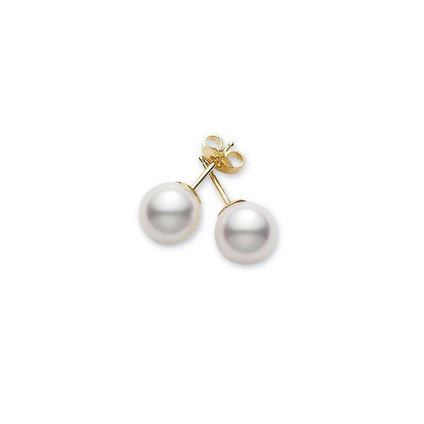 Akoya Cultured Pearl Stud Earrings 7.5-8mm AA
