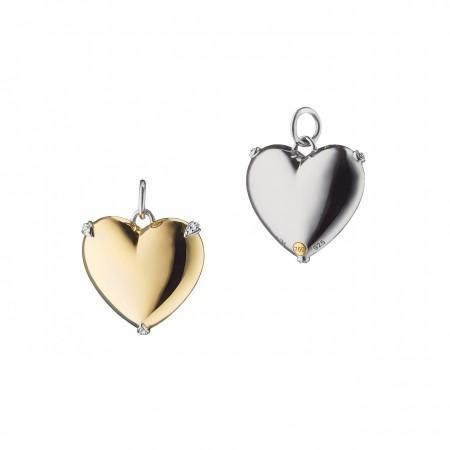 "Large ""Heart of Gold"" Two-Tone Charm"