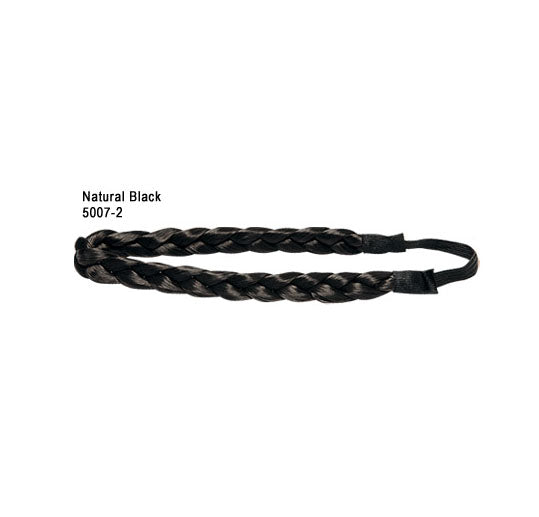 Faux Hair Plated Belt Natural black