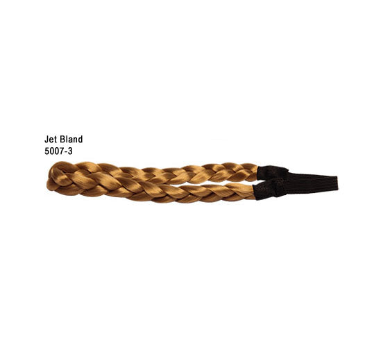 Faux Hair Plated Belt Jet black