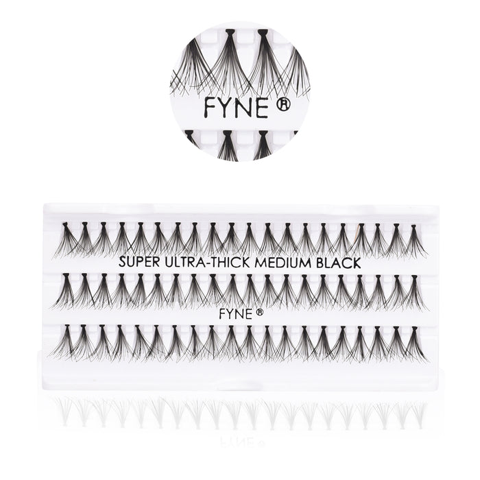 Super Ultra Thick Individual Eyelash Extensions - Medium