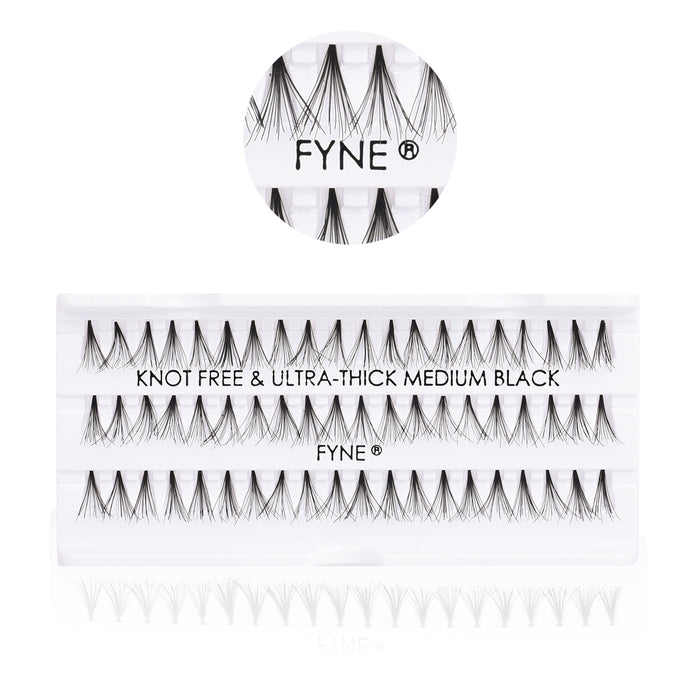 Knot-Free Individual Eyelashes, Medium
