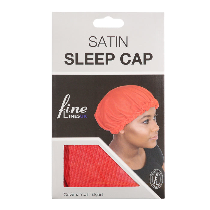 Satin Sleep Cap - Assorted Colours Pack of 12