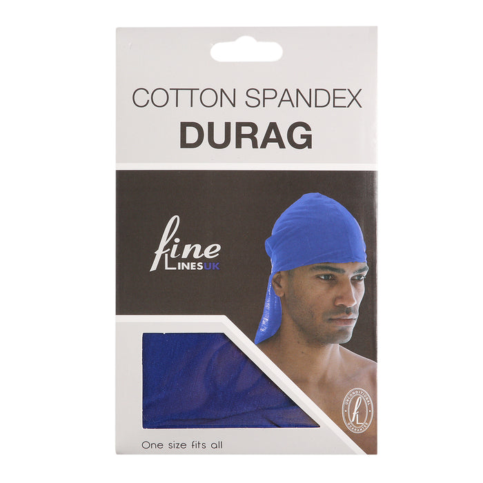 Cotton Spandex Durag - Assorted Colours Pack of 12