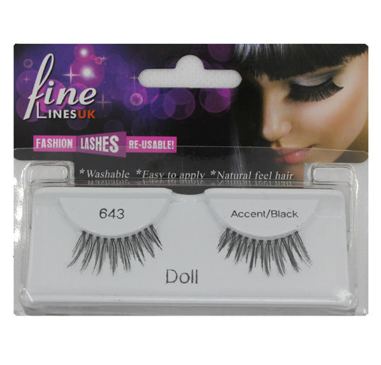 Strip eyelashes, Doll
