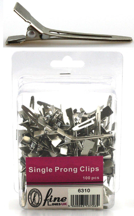 Single Prong metal clip