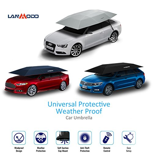 Uhomey Lanmodo Automatic Car Umbrella Tent Remote Control Portable