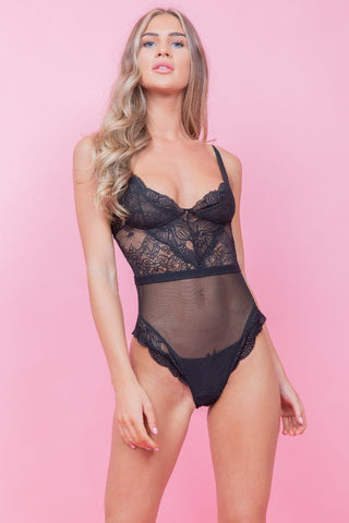Black Lace Bodysuit