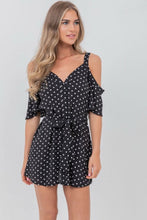 Load image into Gallery viewer, Polka dot black dress