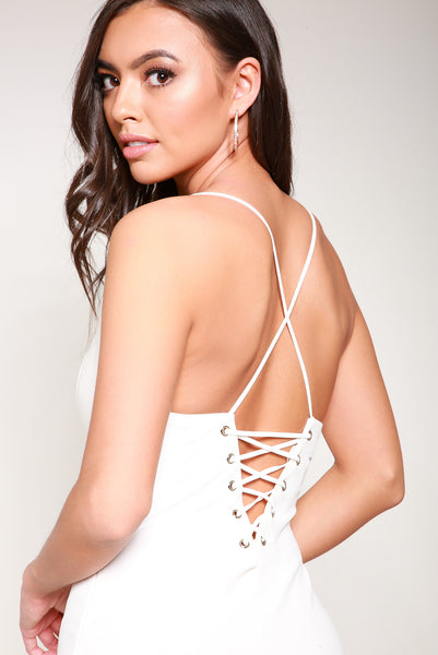 Lack Back Cami Bodycon Dress