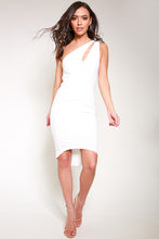 Load image into Gallery viewer, Bodycon white dress